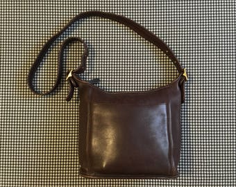 Coach, bucket purse, in espresso leather