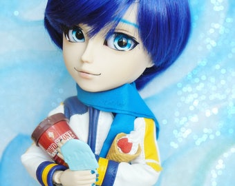12mm Pullip Anime eyechips- Blue Stream
