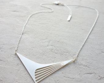 Short Calatrava Nacklace, Geometric Necklace, Signature Necklace, Architectural Jewelry,