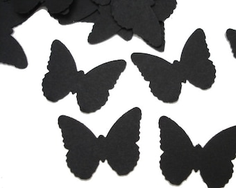 Black Butterfly Confetti, Wedding Party Decorations, Fairy Party Decor - No275