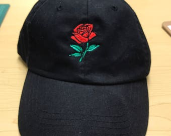 Rose Embroidered Dad Hat