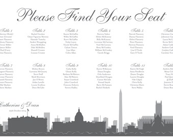 Washington DC Seating Chart Printable Custom Personal Poster Print File ONLY Seating Plan