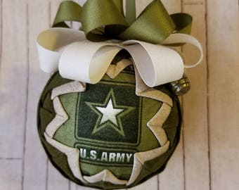 Christmas Ornament - Army Ornament  -  Unbreakable Christmas Ornament - Patriotic gift - Gifts for under 16