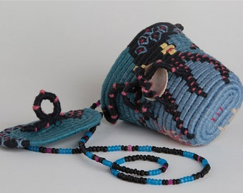 Black Octopus - Miniature Wearable Basket Necklace with Lid