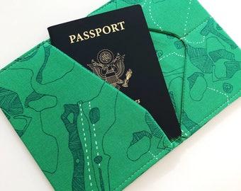 Fabric Passport Cover, Passport Case, Passport Wallet, Travel Wallet, Travel Gift, Honeymoon Gift, Gifts under 20