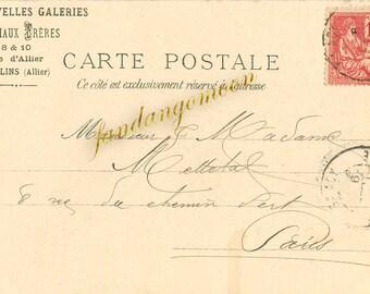 Paris French Victorian Post Card Ephemera Vintage Scrapbook Instant Digital Download Printable