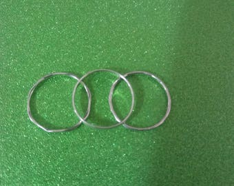 Set of 3 sterling stack rings ss 4