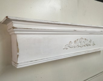 Large Mantel Shelf, Primitive Mantle Shelf,Fireplace Mantel,Shabby Style Mantel Shelf,Architectural Salvage Mantel,Fireplace Mantel