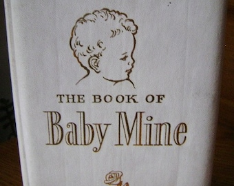 Vintage Baby Book, New Baby Journal, 1962, Gift from Town Businesses of Battle Creek, Michigan, Baby Shower Guest Book,  Reduced Price
