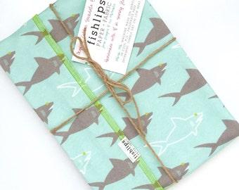 Sharks Organic Cotton Swaddle Blanket, Aqua Newborn Baby Blanket and Hat, Eco Nursing Cover, Blue Stroller Blanket, Beach Baby Shower Gift