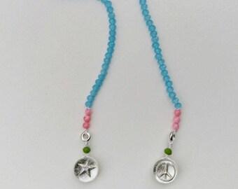 Blue Back reversible necklace
