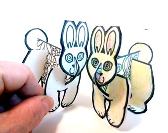 Easter Egg Easter Bunny Set - Printable Toy