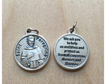 St. Peregrine Saint Medal/ Patron Saint Of Cancer/ Add on Charms/ Saint Medals