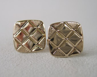 Vintage Mens Gold Cuff Links Mid Century