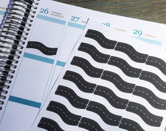 Road Trip Planner Stickers for Erin Condren, Plum Paper, Happy Planner, InkWELL