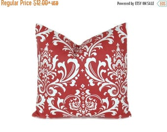 15% Off Sale Coral Pillow Decorative Pillow Cover Coral Damask - Throw Pillow - Accent Pillow - Coral pillows -Decorative Pillow - coral thr