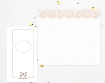 PERSONAL RING Nude Lace Dot Grid
