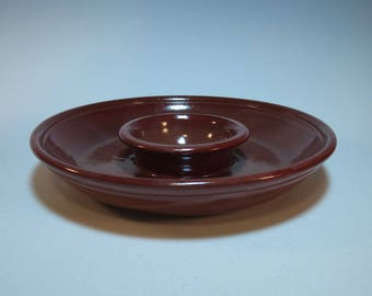 Chip n Dip Serving Appetizer Dish - all one piece - easy storage