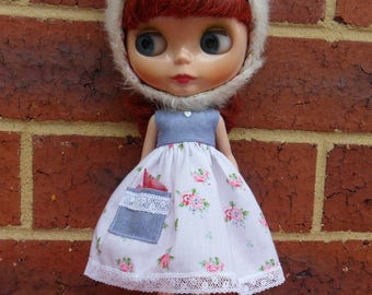 BLYTHE-- denim and Roses Dress