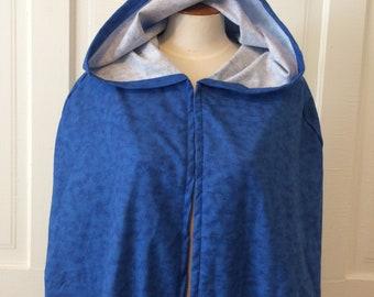 Blue Tie Dye Hooded Cloak - Limited Edition**