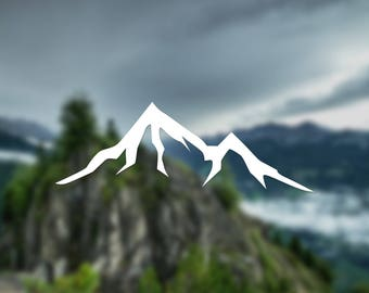 Mountain decal, simple decal, nature decal, wall decal, car decal, window decal, nature sticker, gift, decal, door decal