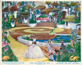 1939 Wizard Of Oz Lobby Card > Glinda The Good Witch & Dorothy 8.5X11 Print > Prop/Replica/Reprint > Munchkin Land > Judy Garland