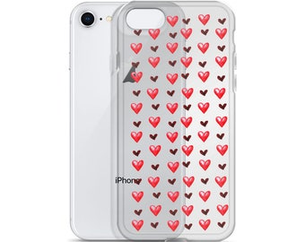 Hearts Red iPhone Case