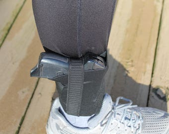 Ankle holster, walking holster, concealed weapon, open carry holster