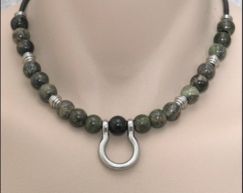 Machino-AI Series 6 - Custom Beaded Necklace with Tribal Reference Design Stainless Steel Components - 10 Bead Options