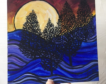 Rolling Hill Pines original painting