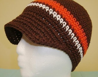 CROCHET PATTERN Adult Visor Beanie PATTERN