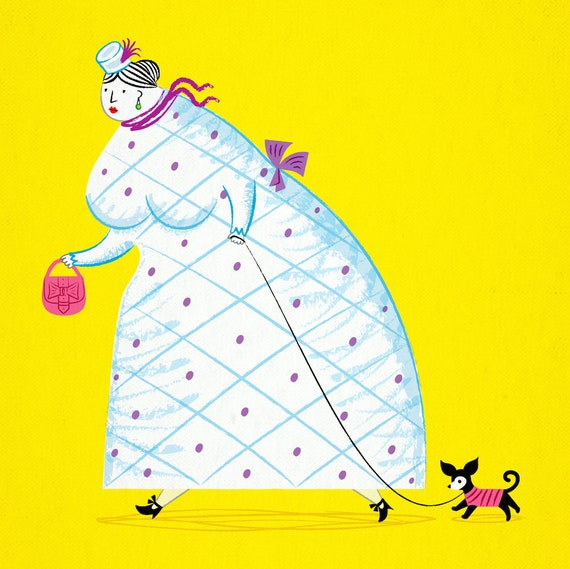 iOTA iLLUSTRATION - Big Girl - Limited Edition Art Print by Oliver Lake