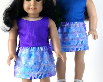 18 Inch Doll Clothes -- Reversible Top and Skirt -- 2 Piece Outfit (1-28)