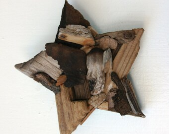 Driftwood Star Driftwood Wall Decor: Coastal Chic Home Decor, Rustic Home Decor