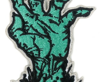 """3"""" Zombie Corpse Hand Iron-ON Patch - The Walking dead Outbreak Apocalypse Survival Horror Undead Creature"""