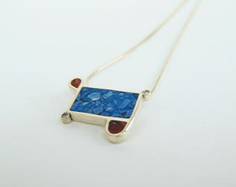 Azurite Sterling Silver Necklace