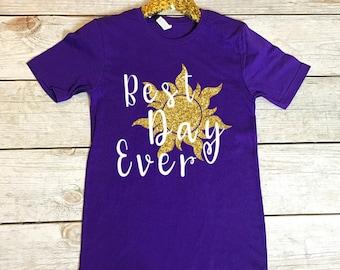 Disney Shirts   Disney Shirts for Women   Best Day Ever   Rapunzel Shirt   Women's Disney Shirt   Disney Rapunzel Shirt   Disney Matching