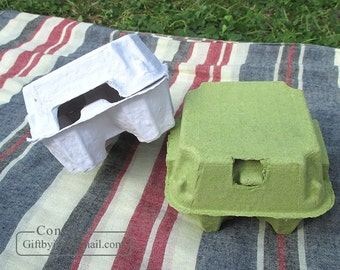 10pcs EGG Cartons(4 holding type)_Paper pulp egg boxes_Egg tray