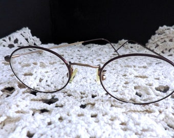 Vintage Chesterfield Wire rim Eyeglasses Frame Made in Italy. Sustainable Fashion