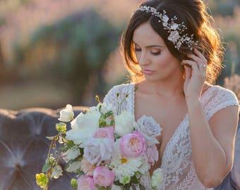 Gold Hair Vine, Bridal Hair Vine, Wedding Hair Vine, Gold Hairpiece, Bridal Hairpiece, Wedding Hairpiece, Silver Hair Vine