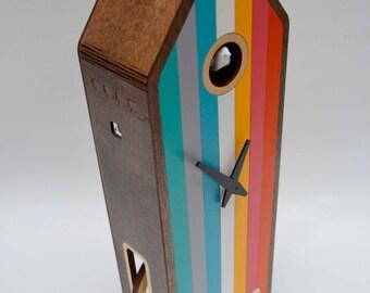 Color-House in Walnut Modern Cuckoo clock