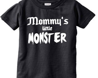 Mommy's Little Monster Funny Kids Punk Kids and Toddler shirts-Kids Gifts- Kids T-shirts-Cute kids gifts