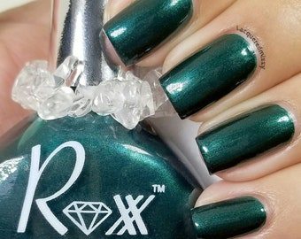 Green Aventurine Polish - Prosperity - YOU Are Prosperous! Crystal Infused Nail Polish - Vegan - Non-Toxic - Crystal Energy