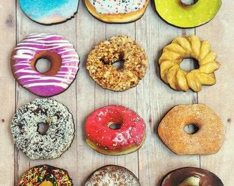 Donut Brooch Bakery Pin Doughnut Jewelry