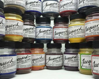 Jacquard Acid Fabric Dye -  For Silk Wool Cashmere Feathers and Nylon