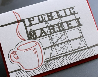 Seattle - eight letterpress note cards