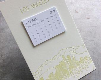 LA Cityscape Postcard Calendar