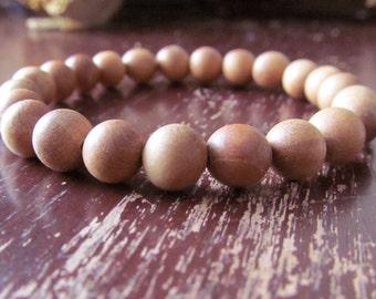 Fragrant Sandalwood Bracelet, Wood Bracelet, Wrist Mala, Yoga Bracelet, Energy Bracelet,Meditation Bracelet, Minimalist, Buddhist, Boho