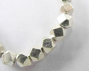 20 of Karen Hill Tribe Silver Faceted Beads 3.5 mm. :ka2463