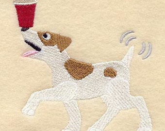 Definitely Not Decaf Beagle Embroidered Flour Sack Hand/Dish Towel